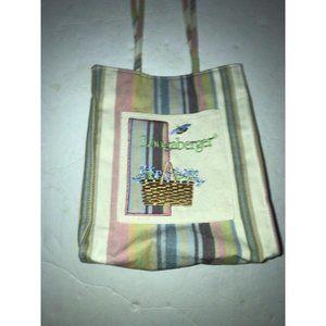 Longaberger Canvas Bag Embroidered Spring themed d